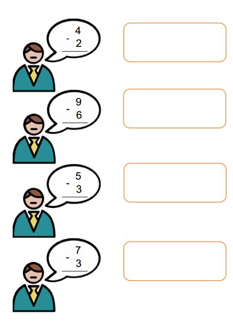 Single Digit Addition and Subtraction Worksheets with pictures ...