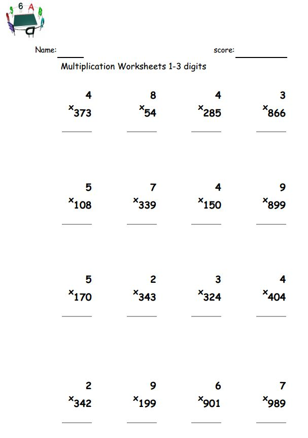Printable 2 Digit Multiplication Worksheets Scalien – 2 and 3 Digit Multiplication Worksheets