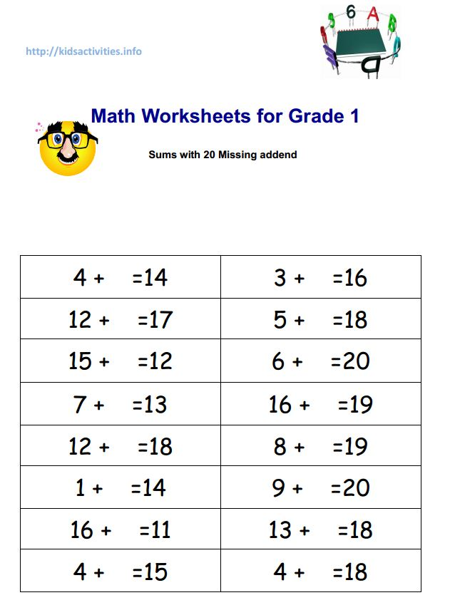 Worksheet 4th Grade Math Worksheets Pdf two digits addition worksheets 2nd grade kids activities math for 1 sums with 20 missing addend pdf