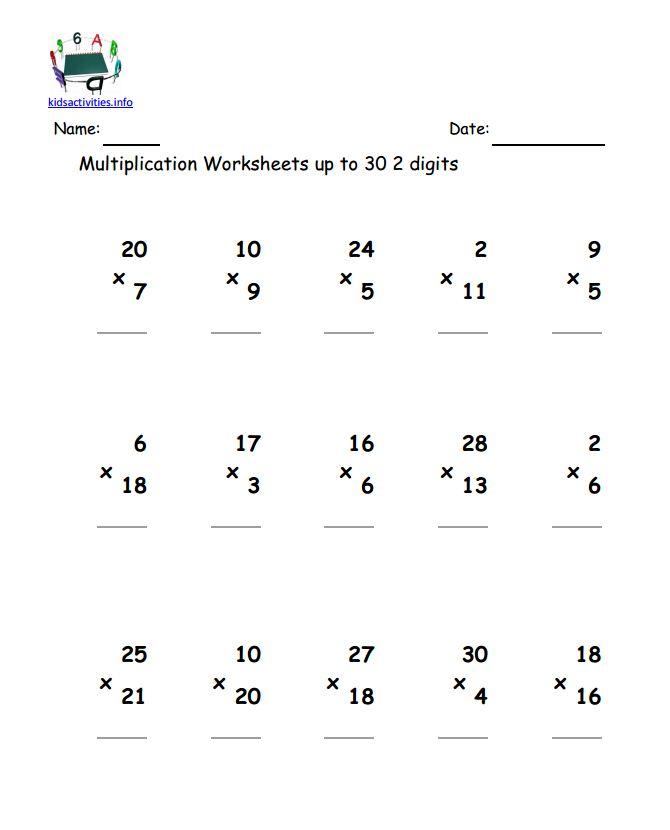 4 Math Worksheets Multiplication Scalien – Grade 4 Maths Worksheets